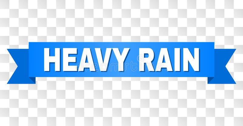 Błękitny faborek z HEAVY RAIN podpisem ilustracji