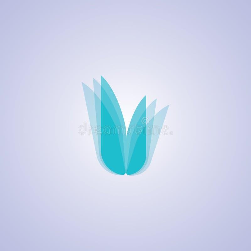 BŁĘKITNY kwiatu symbol zdjęcie stock