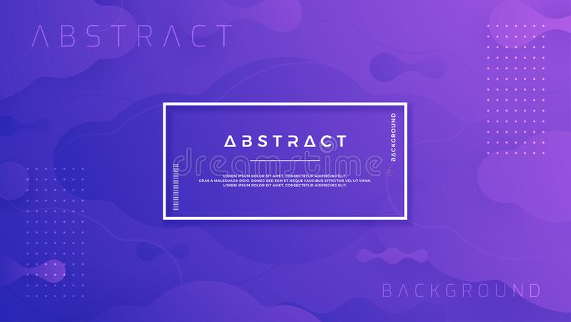 Błękitny purpurowy abstrakcjonistyczny tło jest stosowny dla plakatów, chodnikowiec, sieć sztandar, ląduje stronę, cyfrowy tło, t ilustracji