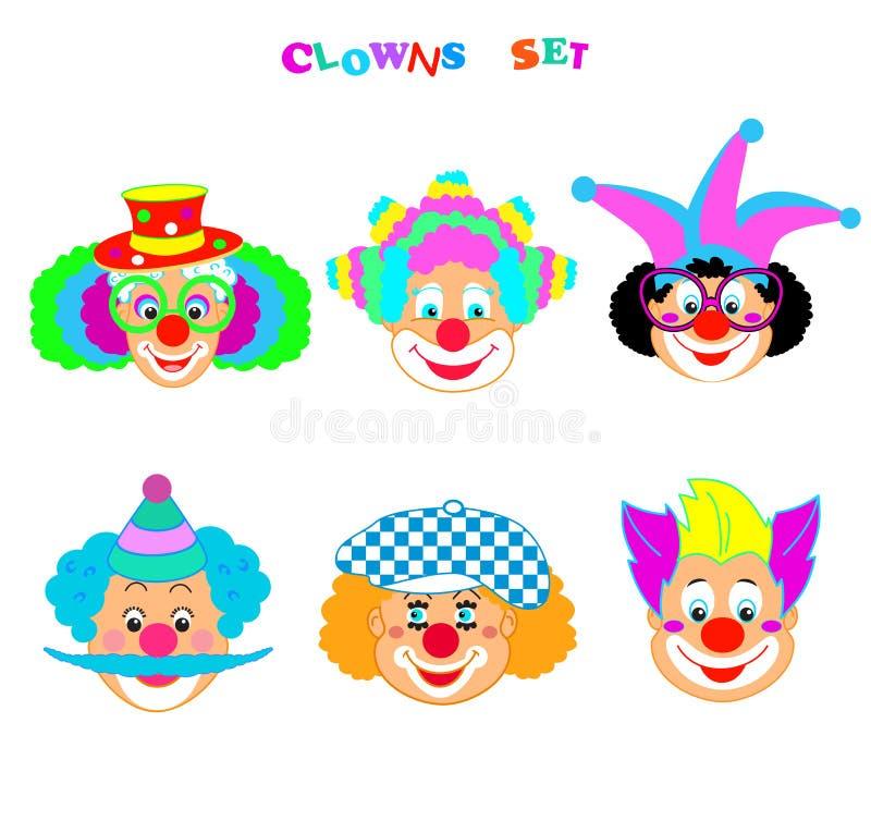 2019 błazenów charakterów maska, Szczęśliwego Purim festiwalu ikon Żydowski Wakacyjny Karnawałowy wzór ilustracji