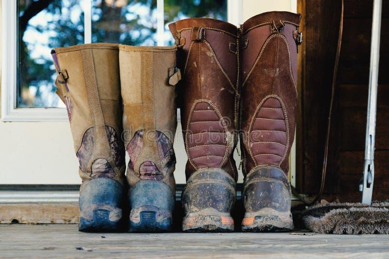 Błotniści węża polowania buty na progu zdjęcie royalty free