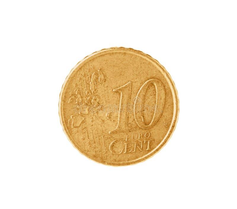 Błyszcząca euro centu moneta fotografia stock