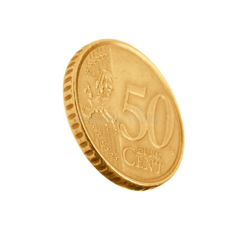 Błyszcząca euro centu moneta zdjęcia royalty free