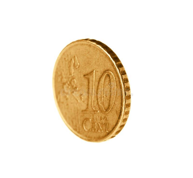 Błyszcząca euro centu moneta obrazy stock