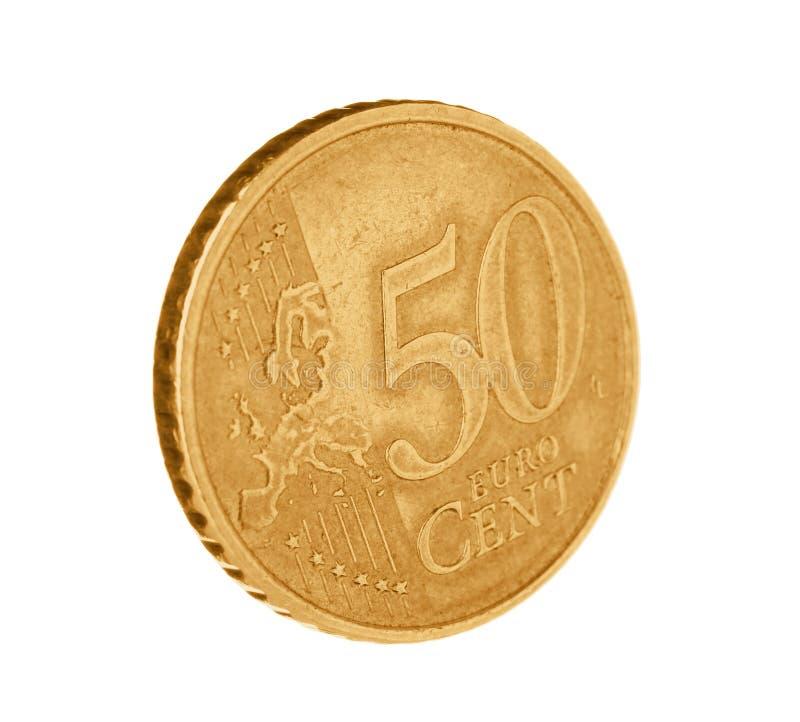 Błyszcząca euro centu moneta fotografia royalty free