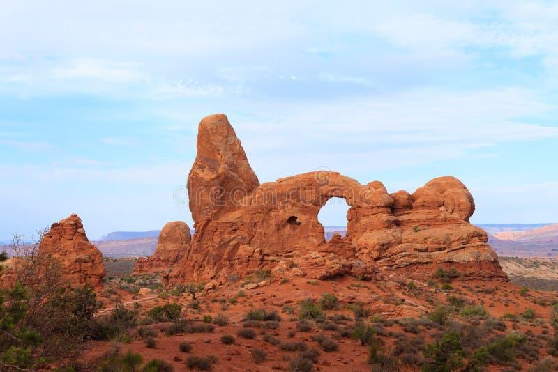 Bågar nationalpark, Moab, USA arkivbilder