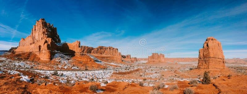 Bågar nationalpark, Moab, Utah landskap fotografering för bildbyråer