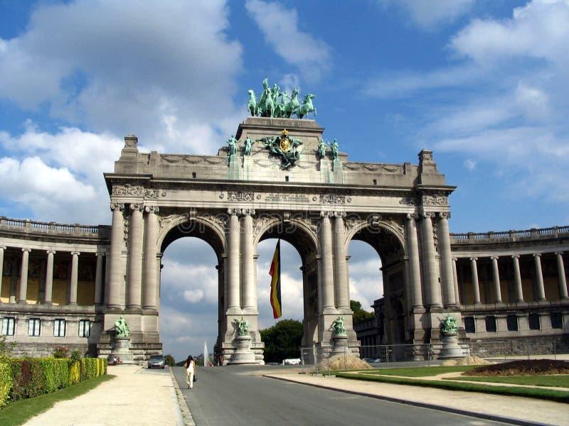 båge Belgien de triomphe arkivfoton