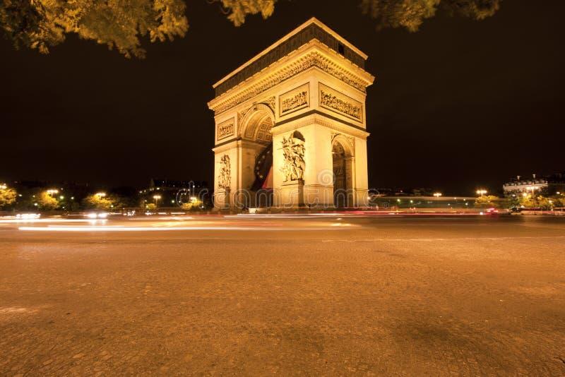 Båge de Triumfera - Paris - Frankrike fotografering för bildbyråer