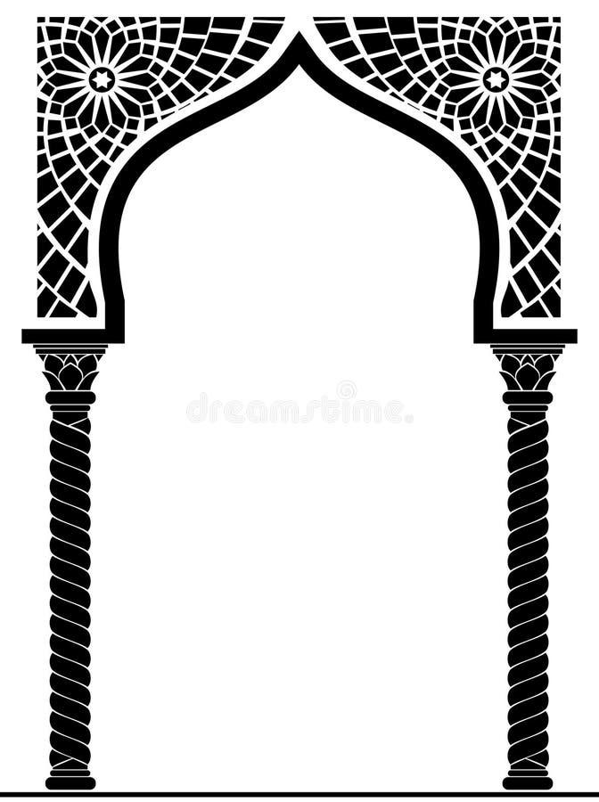 Båge i den arabiska stilen royaltyfri illustrationer