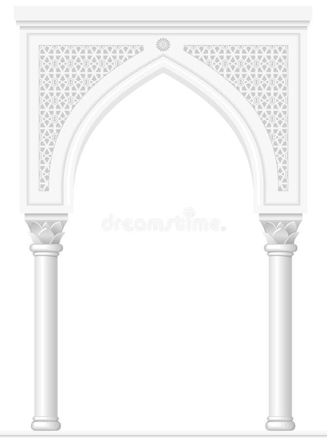 Båge i den arabiska stilen stock illustrationer