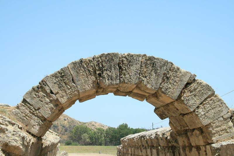 Båge i Olympia royaltyfri fotografi