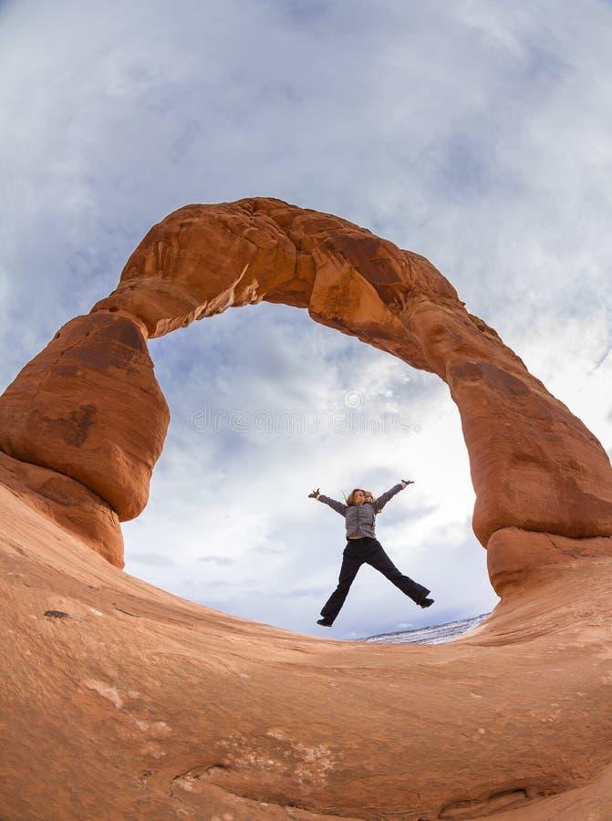 bågen välva sig den fina nationalparken fotografering för bildbyråer