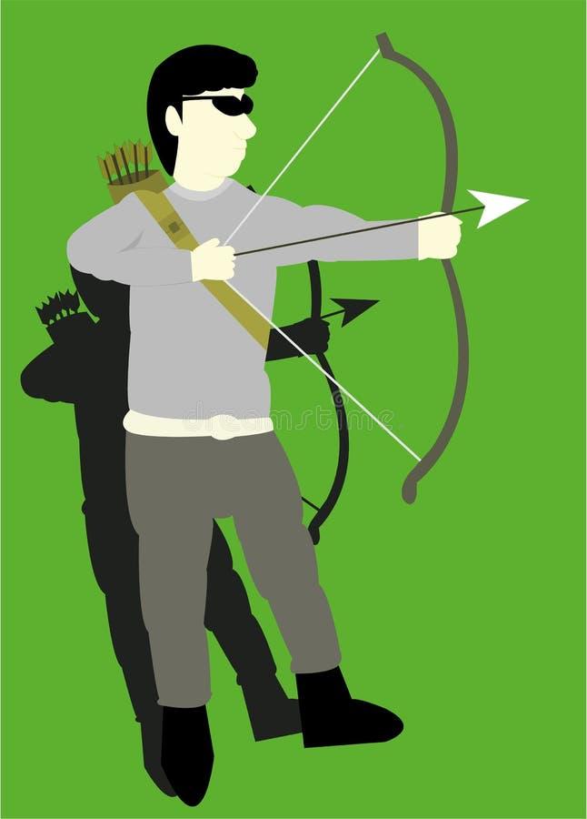 Bågskytten stock illustrationer