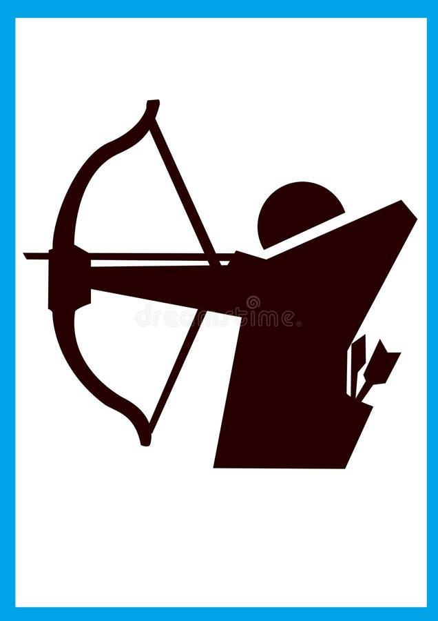 bågskyttesymbol vektor illustrationer