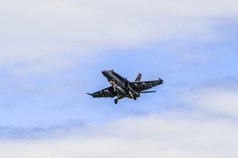 Bålgeting CF-18 fotografering för bildbyråer