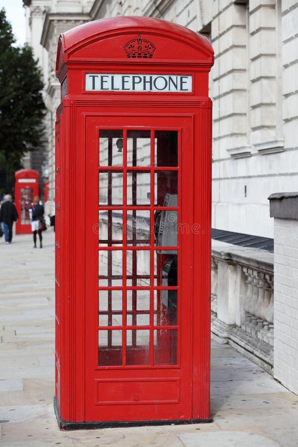 båsredtelefon fotografering för bildbyråer