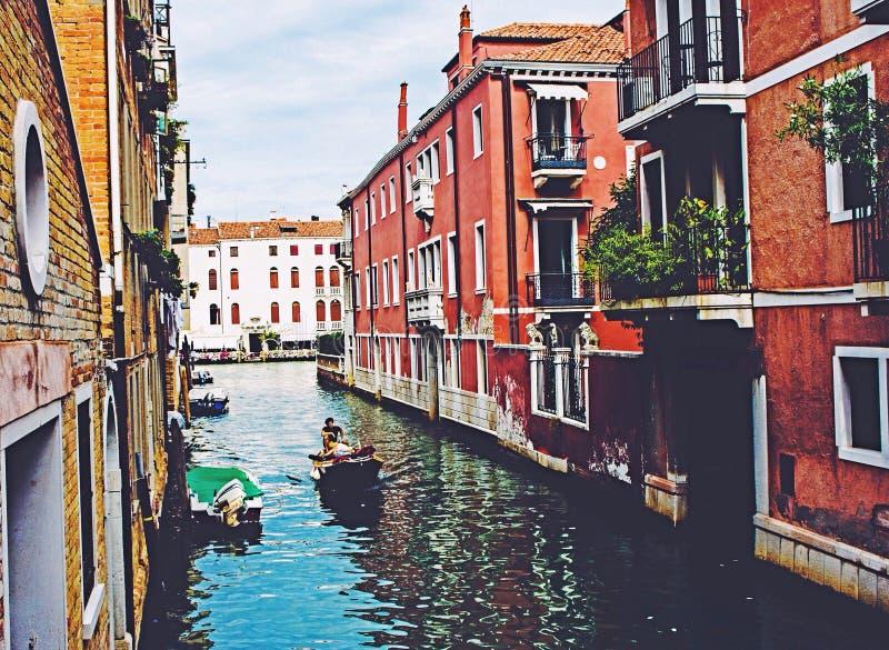 Båtflyktingar för Venedig Italien Europa instagoodnicecity arkivbild