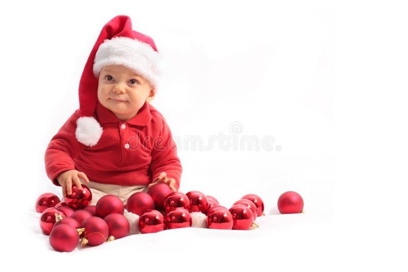 Bébé à Noël photographie stock libre de droits
