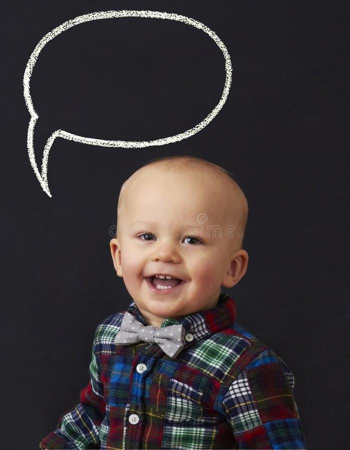 Bébé avec la bulle de mot photos libres de droits