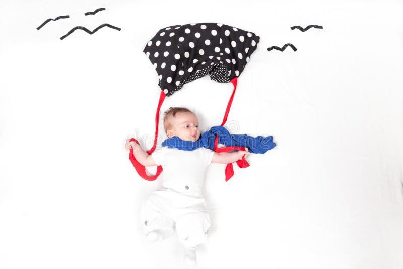 Bébé avec le parabrake photos stock