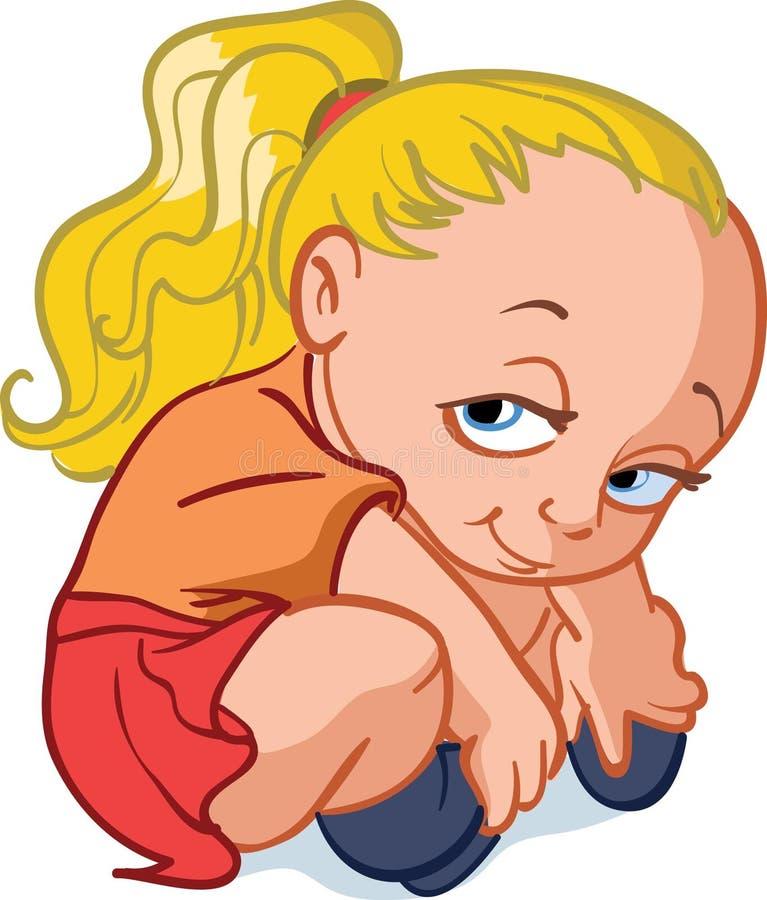 Bébé blond effarouché photo libre de droits