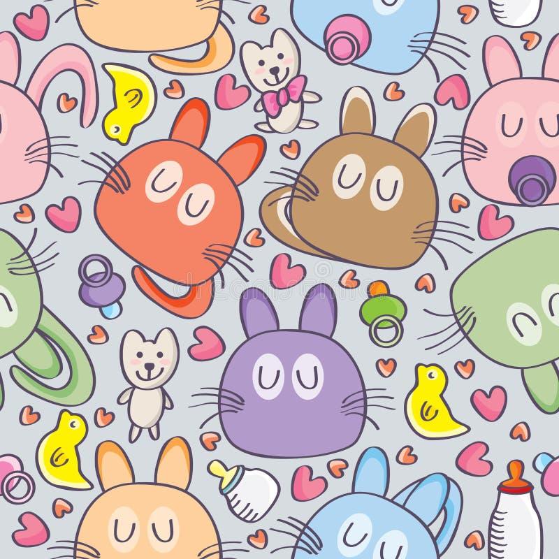 Bébé Cat Milk Seamless illustration stock