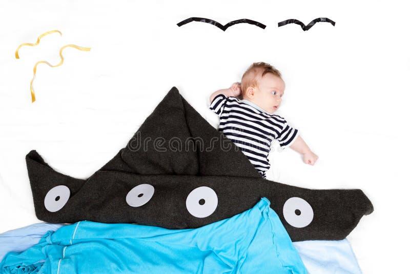 Bébé comme marin images libres de droits