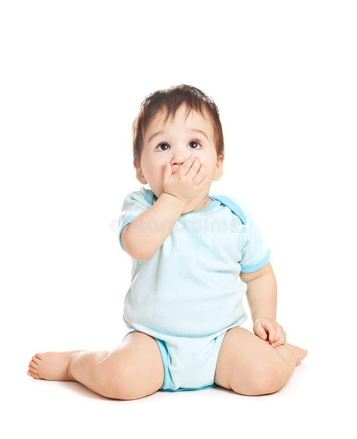 Bébé d'Asiatique de merveille photographie stock libre de droits