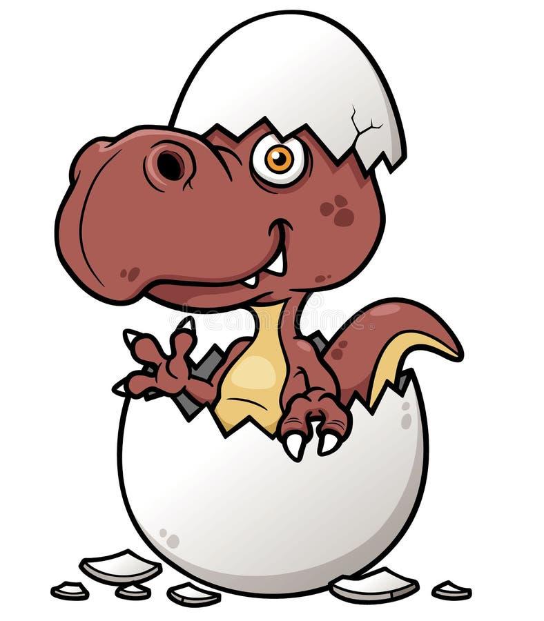 Bébé de dinosaure de bande dessinée illustration de vecteur