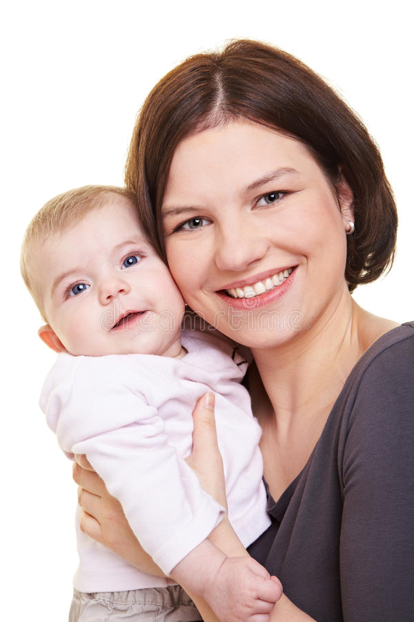 Bébé de transport de mère image libre de droits