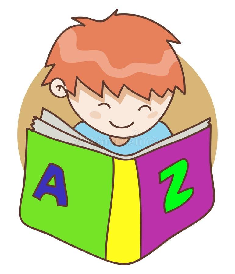 Bébé et le livre illustration stock