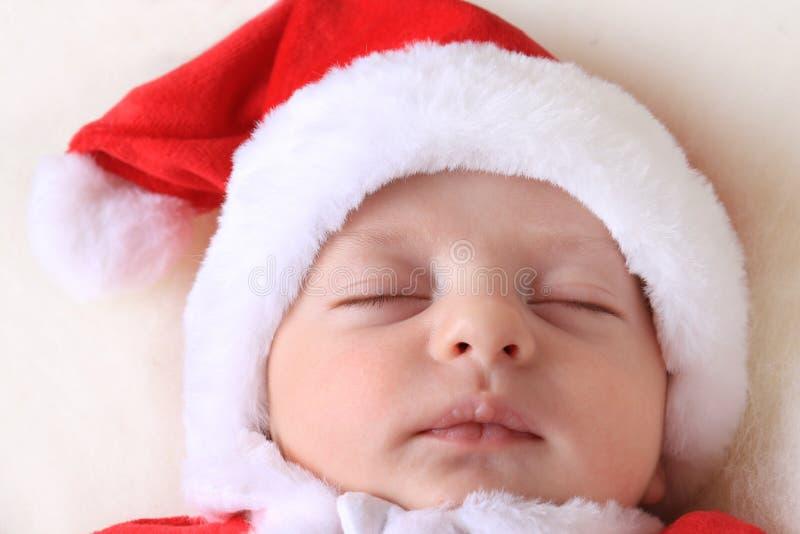Bébé et Père Noël image stock