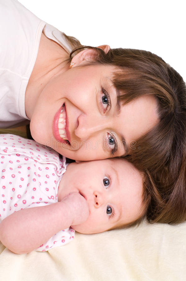 Bébé et sa mère photos libres de droits