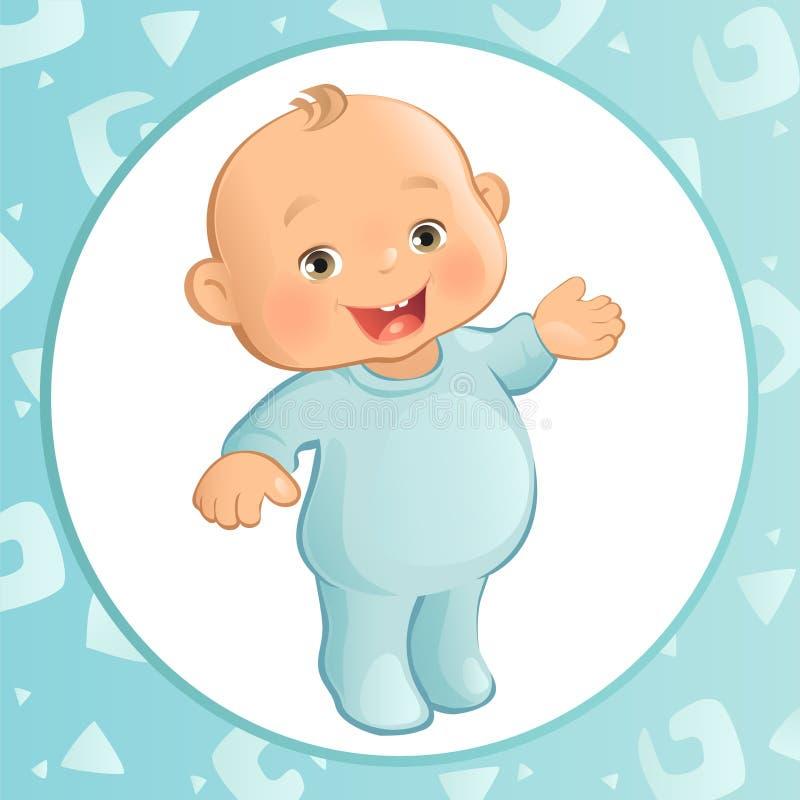 Bébé garçon (vecteur) illustration de vecteur