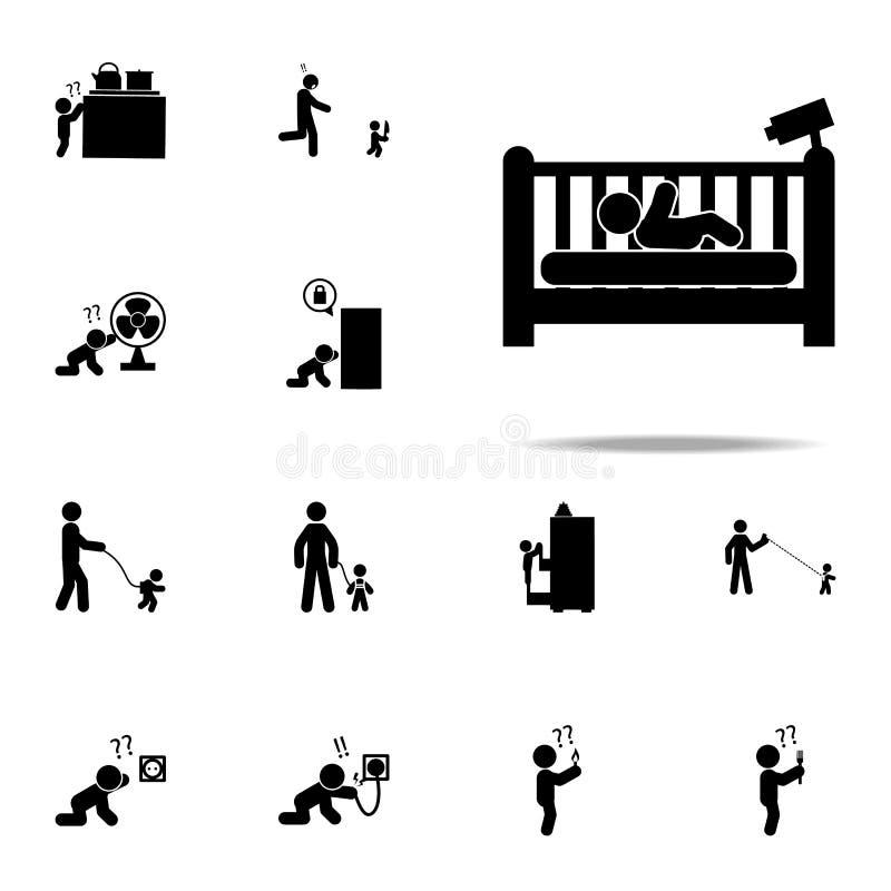 bébé, icône de caméra Ensemble universel d'icônes de bébé pour le Web et le mobile illustration de vecteur