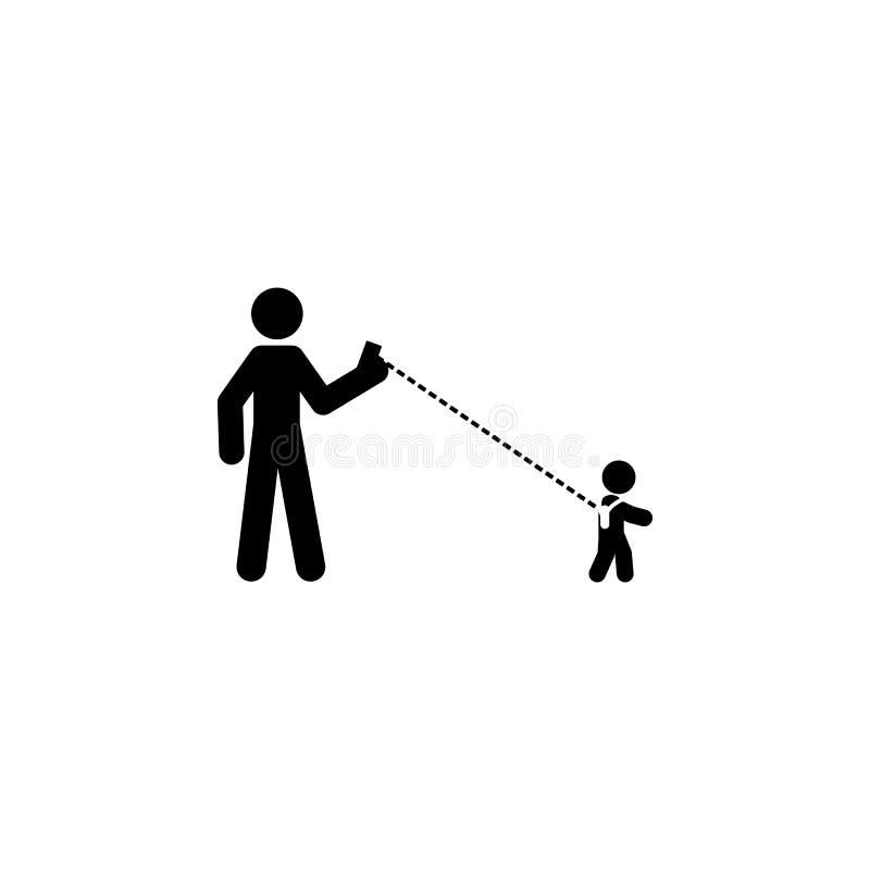 bébé, icône de distance Élément d'icône de bébé pour les apps mobiles de concept et de Web Le bébé affecté, icône de distance peu illustration libre de droits