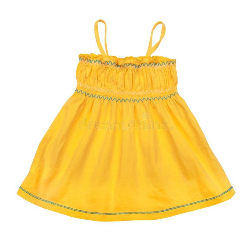 Bébé jaune intelligent de singulet photo stock