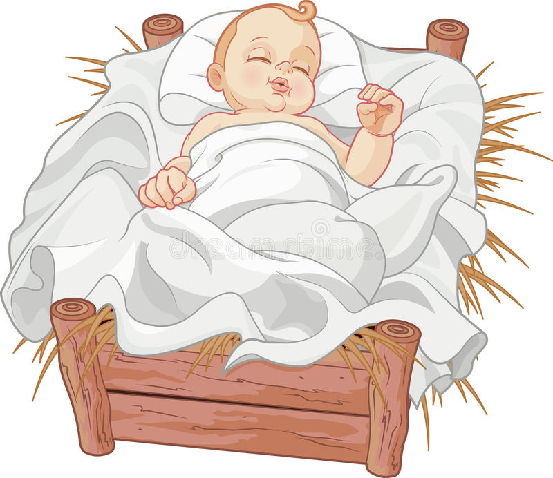 Bébé Jesus Asleep illustration stock