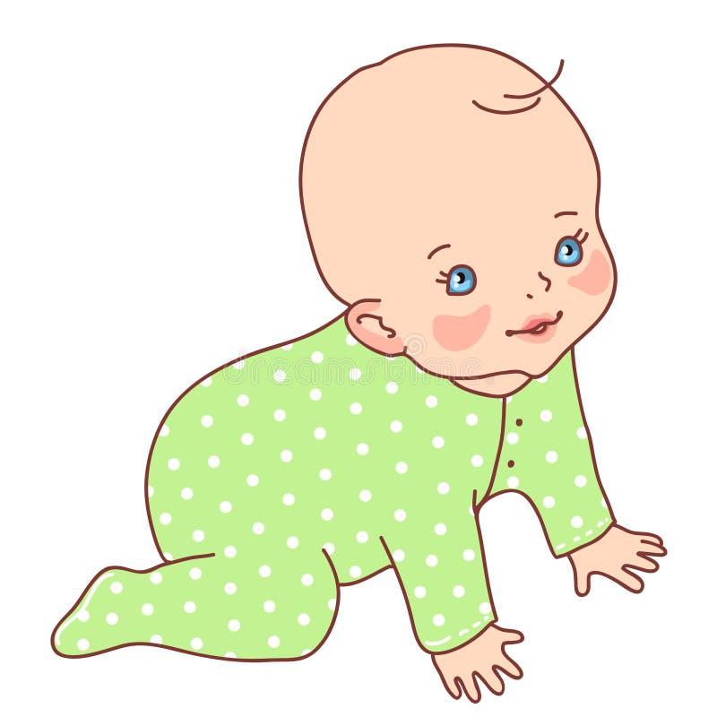 Bébé mignon illustration de vecteur