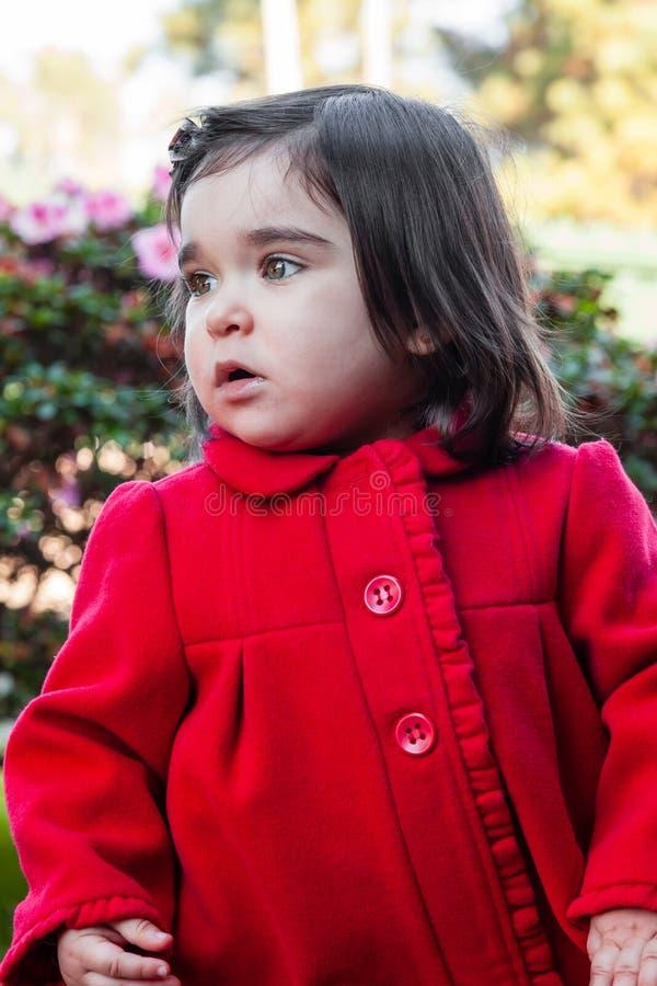Bébé mignon, joli, heureux et à la mode d'enfant en bas âge photographie stock libre de droits