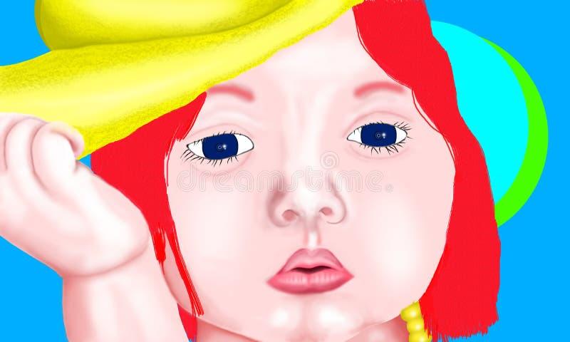 Bébé - peinture de poupée images stock