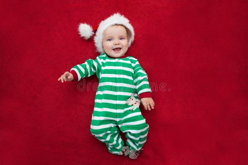 Bébé Santa Claus photos libres de droits