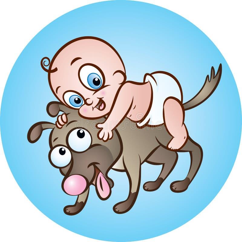 Bébés d'épaule ! illustration de vecteur