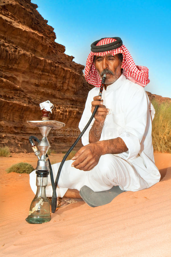 Bédouin en rhum de Wadi, Jordanie photo stock