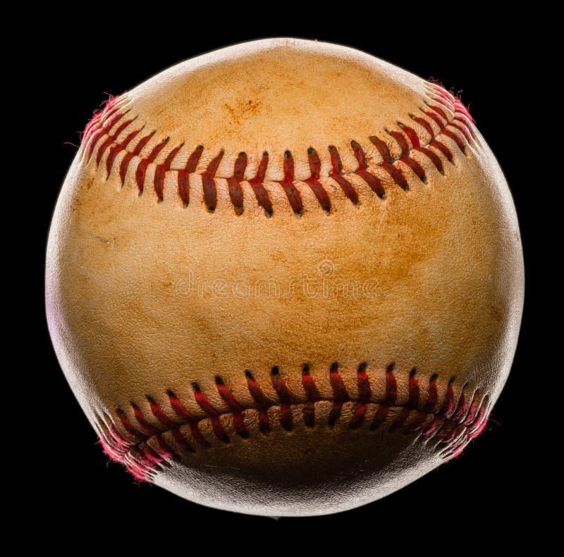 Béisbol aislado en negro fotos de archivo