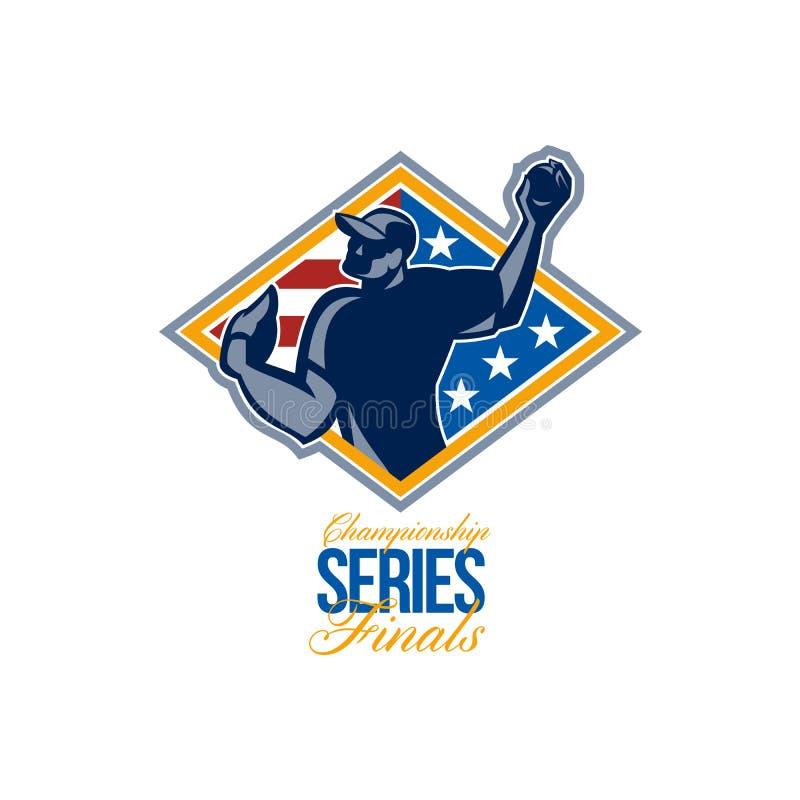 Béisbol americano de los finales de la liga del campeonato libre illustration