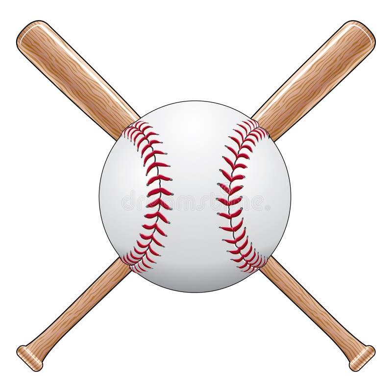 Béisbol con los palos ilustración del vector