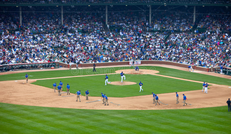 Béisbol de Chicago fotografía de archivo