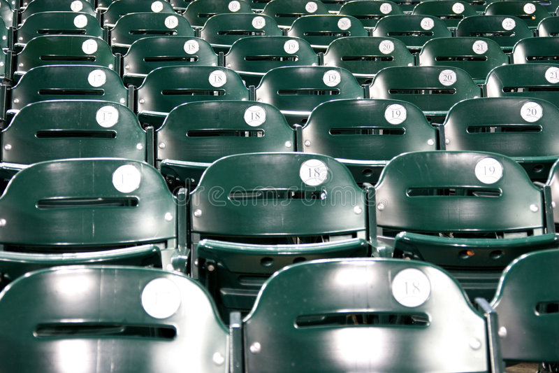 Béisbol del estadio fotografía de archivo